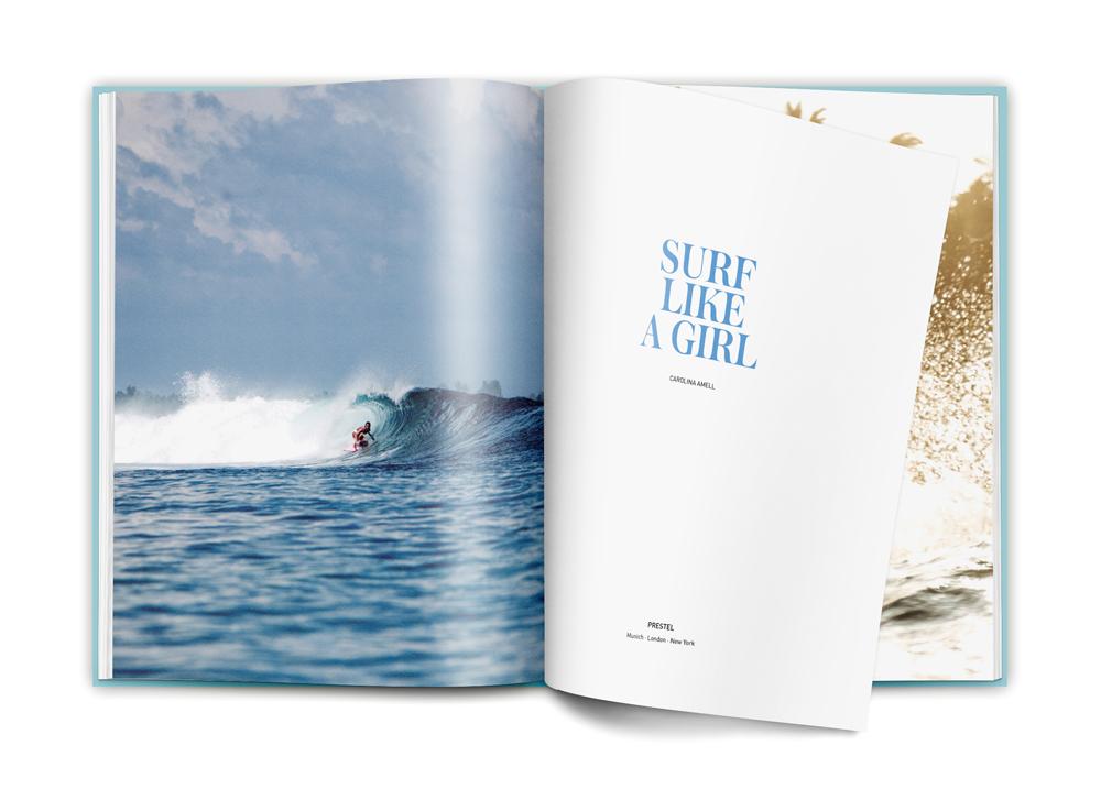 Carolina Amell pour le livre «Nées pour surfer»